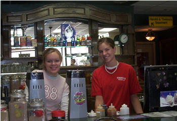 Staff at Cherio's Coffee Shop